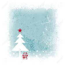 grungy and frosty blue christmas card with scratches stains