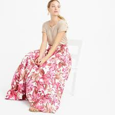 j crew collection crinoline skirt in romantic floral in pink lyst