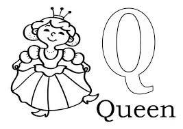 Letter Q Coloring Pages Learn Alphabet Letter Q For Queen Coloring Coloring Pages Q