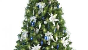 Blue White And Silver Christmas Tree - christmas tree christmas tree hire