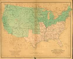 Map Of The States In United States by Florida Memory Map Of Free And Slave Holding States In The