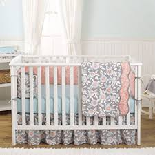 grey dahlia 4 in 1 baby crib bedding collection