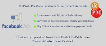 prepaid account prepaid ad accounts fb ad payment cards