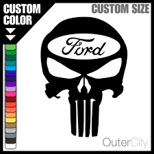 Vintage Ford Truck Decals - ford punisher decal f 150 truck 4x4 focus mustang gt fiesta car