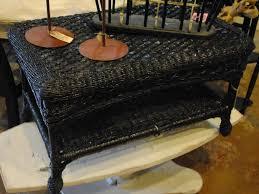 black wicker coffee table u2013 durable wicker base material black