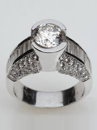 rings from jewelry images Heavy bezel set engagement ring jewelry depot houston png