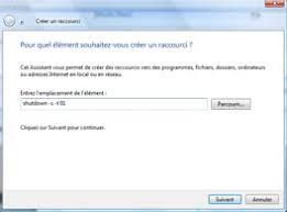 creer icone bureau windows vista créer un raccourci pour arrêter windows