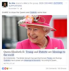 Queen Elizabeth Donald Trump Busted Queen Elizabeth Ii Did Not Say Trump Duterte Are