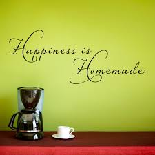 Kitchen Wall Art Decor by Happiness Is Homemade Wall Decal Kitchen Wall Sticker