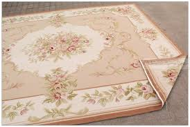 8 10 wool hand woven shabby chic french style aubusson area rug