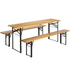 Folding Wood Picnic Table Best Choice Products Portable 3 Piece Folding Picnic Table Set W Wood