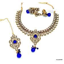 necklace set blue stone images End kundan and blue stone necklace set JPG