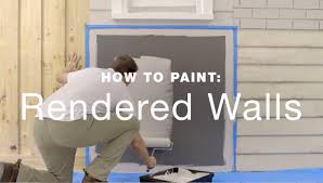 how to paint exterior rendered walls youtube