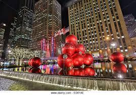 giant christmas ornaments radio city stock photos u0026 giant