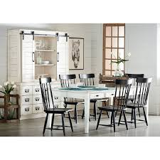 Kitchen Dining Room Furniture Farmhouse Keeping Table Six Farmhouse Spindle Back Chairs And Two