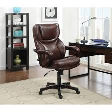 Leather Executive Desk Chair Serta At Home 43506 Big And Tall Eco Friendly Bonded Leather