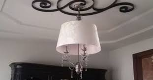 What Size Ceiling Medallion For Chandelier Non Traditional Ceiling Medallion Hometalk