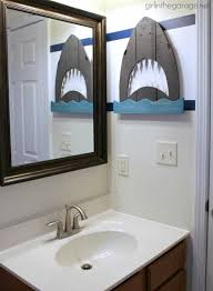 Nautical Themed Bathroom Decor Bathroom On Etsy Handmade Shark Bathroom Accessories Pallet Wood