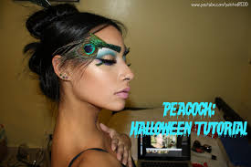 Youtube Halloween Makeup by Peacock Halloween Tutorial Youtube