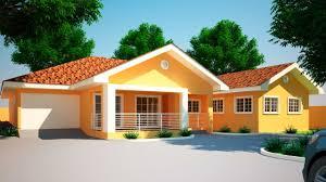 sleek 4 bedroom house plans in ghana on four bedro 1024x768
