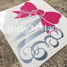 monogram car decal custom personalized glitter monogram car from happyasalarkboutiqu