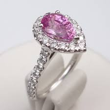 engagement rings chicago 1 86ct pink sapphire diamond ring gale diamonds chicago
