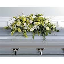 casket sprays green and white casket spray