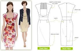 Design Pattern Of Dress | stylearc heather dress