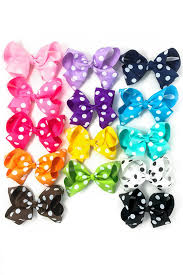 polka dot 6 inch large bows many colors sparkle in pink