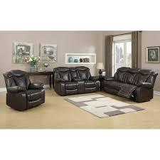 otto sofa brown 2 pcs glider reclining sofa loveseat set