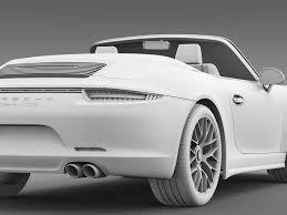 porsche 911 convertible white porsche 911 carrera gts cabriolet 991 2015 by creator 3d 3docean