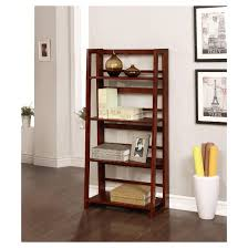 Dark Bookcase Dolce 4 Shelf Folding Bookcase 48