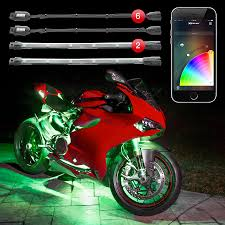 led light strips kit xkchrome ios android app bluetooth control advanced 6 pod 2 strip