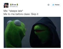 Memes Rana Rene - kermit malvado intenta seducirnos al lado oscuro