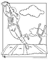 Football Field Coloring Page Woo Jr Kids Activities Football Coloring Page