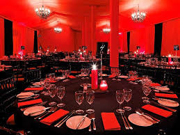 amusing black and red table settings 26 in home designing