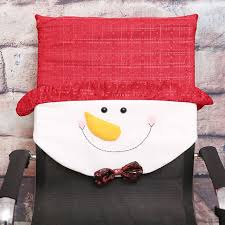 snowman chair covers aliexpress buy 1pcs santa claus snowman chair cover new year