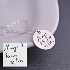 custom handwriting necklace shop personalized custom handwriting necklaces georgie