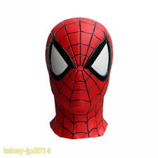 spiderman spider man face rubber mask japan free