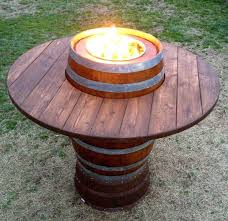 Bar Height Fire Table Awesome Collection Of Wine Barrel Fire Pit Table Furniture