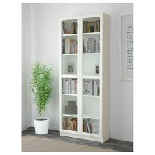 Ikea Bookcase With Glass Doors Billy Bookcase Birch Veneer Ikea Bookshelf Doors