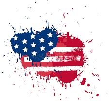 blot in usa flag colors stock vector illustration of poster