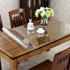 glass top to protect wood table oval dining atble wood with simple black pad chairs on white rug for