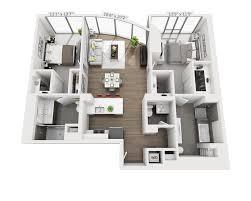 studio apartment floor plans 3d