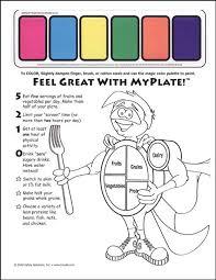 my plate coloring sheet english