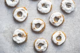 vegan carrot cake baked donuts biddiekitchen