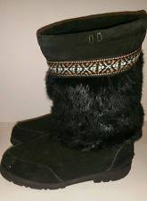womens fringe boots size 11 minnetonka mukluk boots ebay
