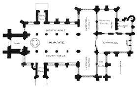 cruciform floor plan meze blog plan of a gothic cruciform parish church