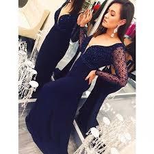 navy blue prom dresses chiffon evening dress backless prom dress