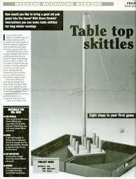 table skittles plans u2022 woodarchivist